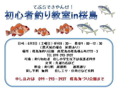 てぶらできやんせ 初心者釣り教室 桜島.jpg